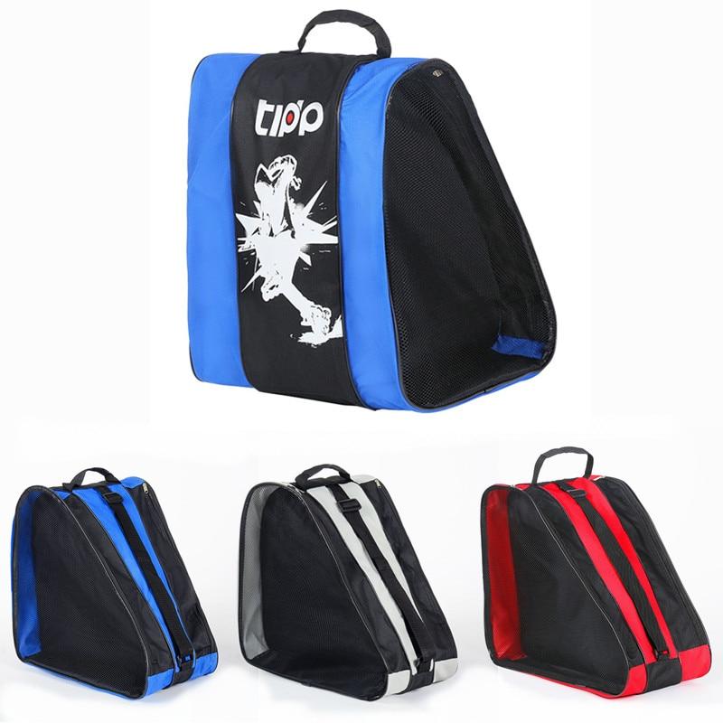Professional Ice Ski Snow Boots Bag Unisex Triangle Shape Roller Skate Bag Single Shoulder Skating Shoes Storage Backpack