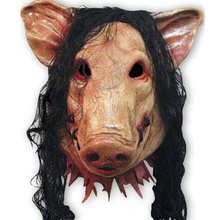 Latex Pig Mask Unisex Halloween makeup party Horror NEW