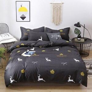 Image 5 - Solstice Home Textile Duvet Cover Pillow Case Flat Sheet Panda Cartoon Bedding Set Kid Boy Teen Girl Bed Linens Twin Full 3/4Pcs