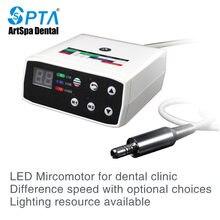 Micro moteur électrique à fibre optique sans balais, outil de dentisterie pour dentiste