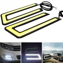 2pcs 14CM Daytime Driving Fog Lights Vehicle Daytime Running Light COB LED Car Lamp External Lights Auto Waterproof Car Styling 2pcs waterproof led daytime running light external drl car lights source styling auto fog lamp 10 5 24 5cm for bmw ford audi bj