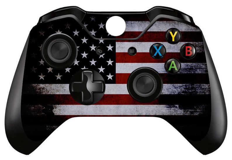 フルフェイスプレート防水ビニールスキンデカール用 Xbox One 標準コントローラ保護スキン × 2 # QXTM0015