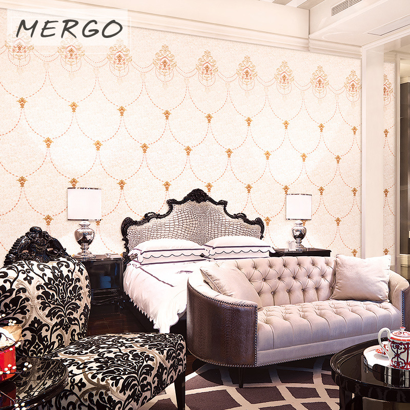 Embroidered Environmentally Friendly Wall Cloth Seamless Modern Minimalist Wall Covering Fabric Home Improvement Main Material B
