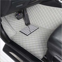 Car floor mats slk r171 waterproof leather car styling car carpet car mats accessory tapis voiture Two seats in the car