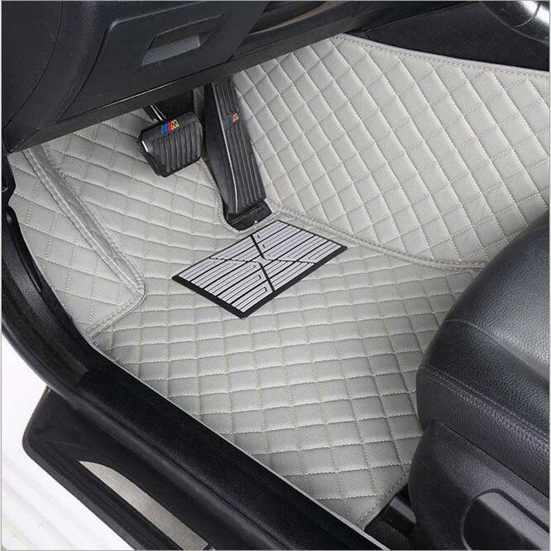 Tapis de sol de voiture slk r171 imperméable en cuir voiture style voiture tapis de voiture accessoire tapis voiture deux sièges dans la voiture