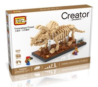 LOZ Dinosaur Series Small Particles Assembled Building Blocks 9025 Triceratops Dinosaur Mini Blocks
