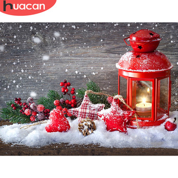 HUACAN 5D Diamond Painting Christmas Landscape Full Square Drill Home Decoration Handcraft Art Kits Embroidery Picture - discount item  27% OFF Arts,Crafts & Sewing
