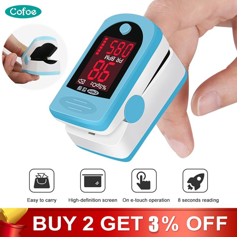 Cofoe Medical Fingertip Pulse Oximeter SPO2 PR Blood Oxygen Saturation Monitor Portable Household Heart Rate Pulse Oximeter