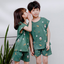 New Baby Girls Clothes Cartoon Panda Boys Clothes Suit T Shirt+pant 2pcs Homewear Girl Clothes Set Cotton Baby Boys Kids Clothes cheap GACOOS Fashion CN(Origin) O-Neck Sets Pullover Polyester Unisex Short Regular Fits true to size take your normal size Shorts