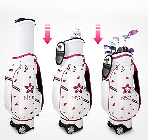 Crestgolf-PGM sac de Golf rétractable pour femme sac de voyage pour femme à roulettes sac de Golf étanche pour chariot de Golf, deux couleurs pour votre choix
