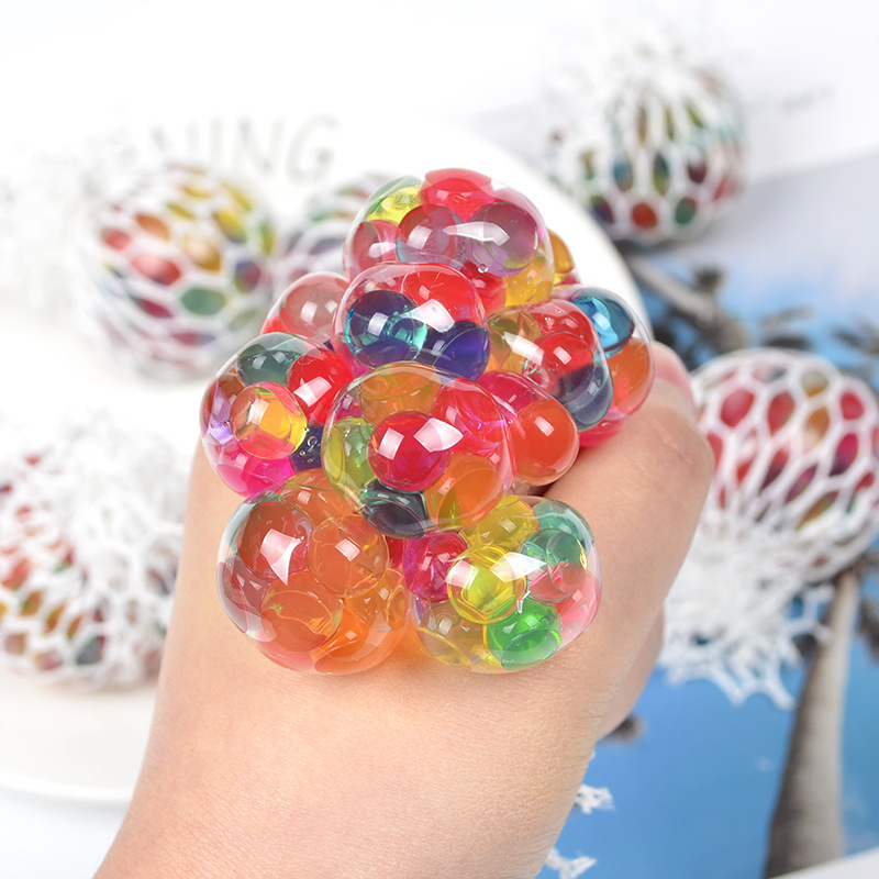 Jumbo Squishy Squishies Soft Plastic Toy Grape Bulb Big Beads Vent Ball To Relief Burst Beads Water Ball Squeezing