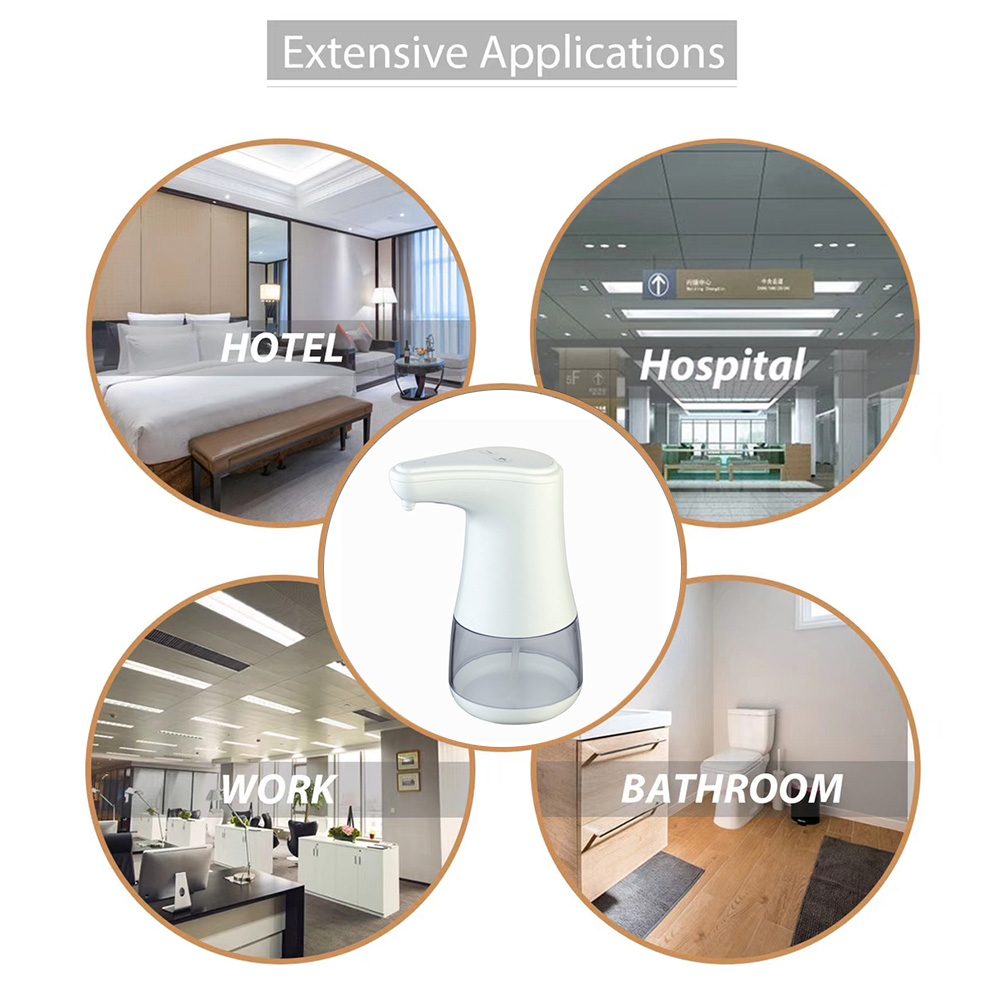 Automatic Spray Type Soap Dispenser Touchless Alcohol Sanitizer Disinfectant Dispensers with IR Sensor Two-level Adjustment