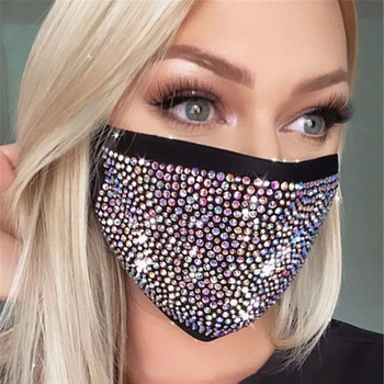 Christmas Sexy Shiny Rhinestone Mask Decoration Face Accessories Cover Face Jewelry For Women Wedding Nightclub Decoration