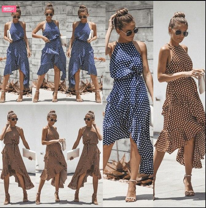 Хит продаж, женское платье в горошек, модное платье с поясом, необычное платье, элегантное красивое платье, богемное платье для женщин