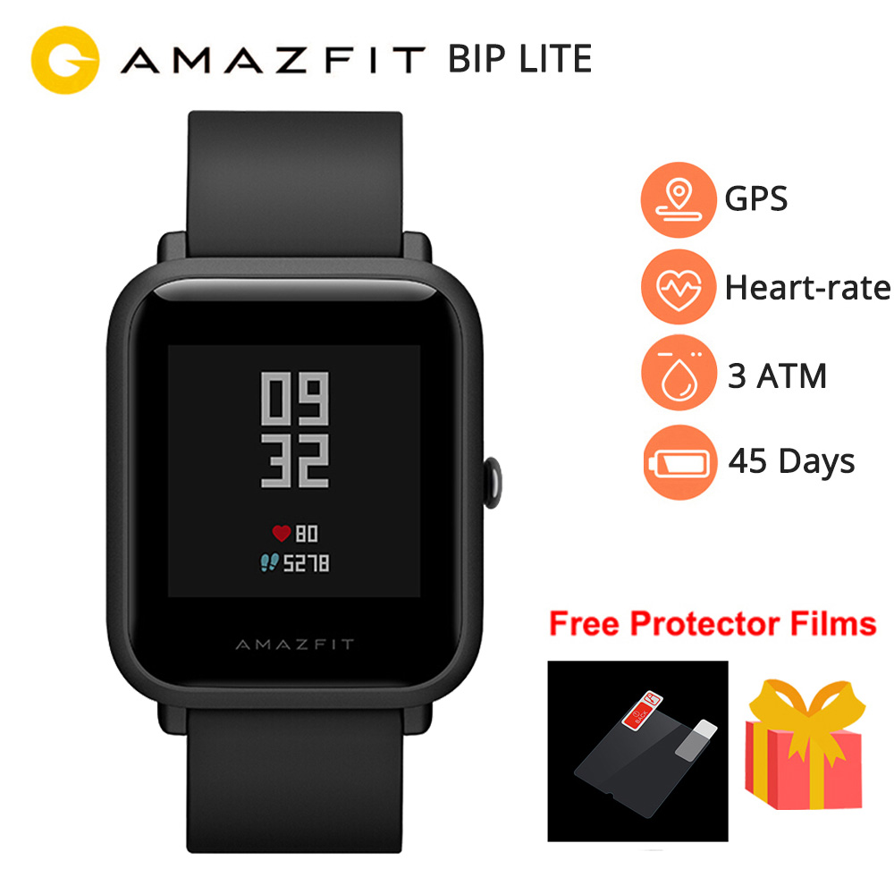 Новый Amazfit Bip Lite Смарт часы Для мужчин gps 12 спортивных режимов Bluetooth Смарт часы 45 дней Срок службы батареи 3ATM в соответствии со стандартом водо