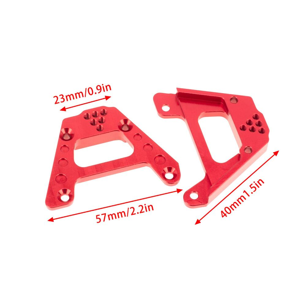 Facibom for Axial SCX10 III AXI03007 1//10 RC Crawler Upgrade Parts Metal Shock Absorber Tower Holder Adjustable Damper Mount,RD