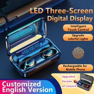 Оригинальные технические наушники Bluetooth 5,0, TWS, сенсорная гарнитура со сканером отпечатков пальцев, Hi-Fi стереонаушники-вкладыши, беспроводны...