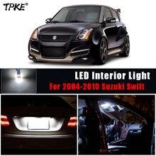 TPKE 8 шт. супер белый интерьер автомобиля светодиодный светильник лампы Комплект для 2004-2010 идеально подходит для Suzuki Swift/чтения ствол номерно...