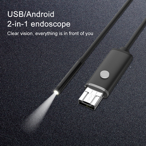 Image 2 - 7mm 2 IN 1 USB Endoscope 480P HD Snake Tube Borescope USB Endoscopio Inspection Micro Camera For PC Smart Phone
