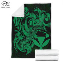 Kanaka maoli зеленое покрывало в полинезийском стиле с 3d принтом