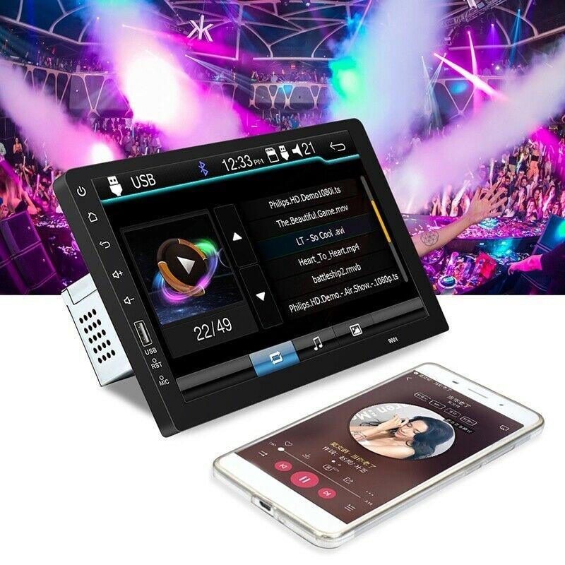 9Inch 1Din Car Radio MP5 Player Press Screen FM Radio Bluetooth USB AUX Mirror Link