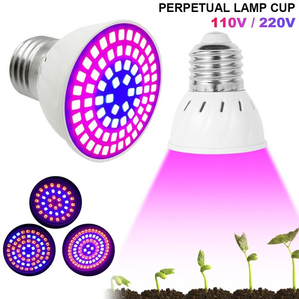 Full Spectrum LED Grow Light Bulbs E27 110V 220V LED Plant Grow Light Bulb 4W UV Lamp Plant Flower Seedling Fitolamp Phyto Lamp