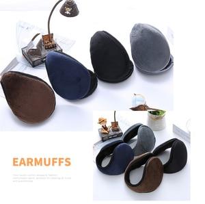 Earmuff Ear-Warmer Earlap Wrap-Band Apparel-Accessories Unisex Gift Hot-Sale Gray/navy-Blue