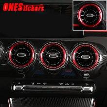 Para mercedes benz a cla classe w177 v177 c118 a180 a200 2019 2020 + acessórios do carro ar condicionado saída de ventilação ar anel capa guarnição