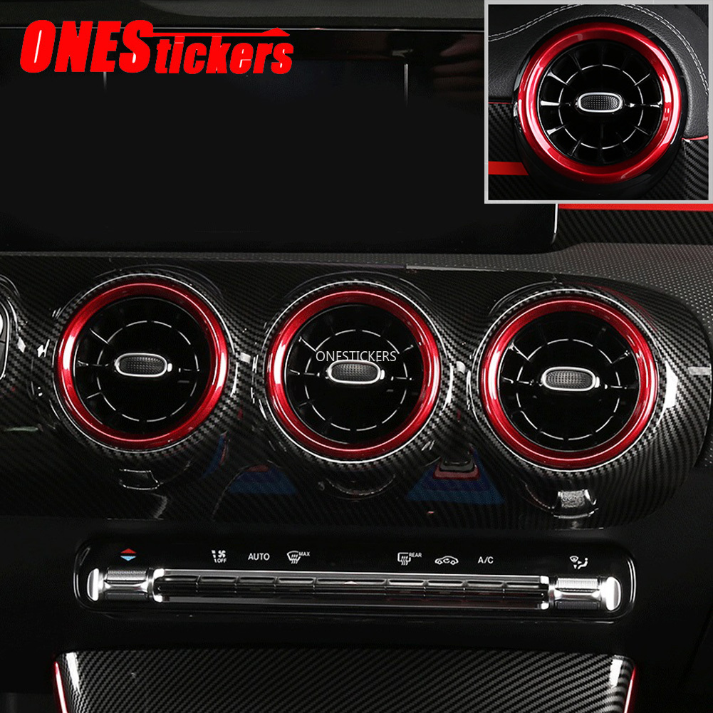 For Mercedes Benz A CLA Class W177 V177 C118 A180 <font><b>A200</b></font> <font><b>2019</b></font> 2020+ Car Accessories Air Condition Air Vent Outlet Ring Cover Trim image