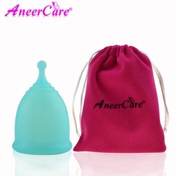 1pcs Feminine Hygiene Menstrual Cup Medical Grade Silicone Copo Menstrual de Silicone Medica Reusable Menstrual Cup
