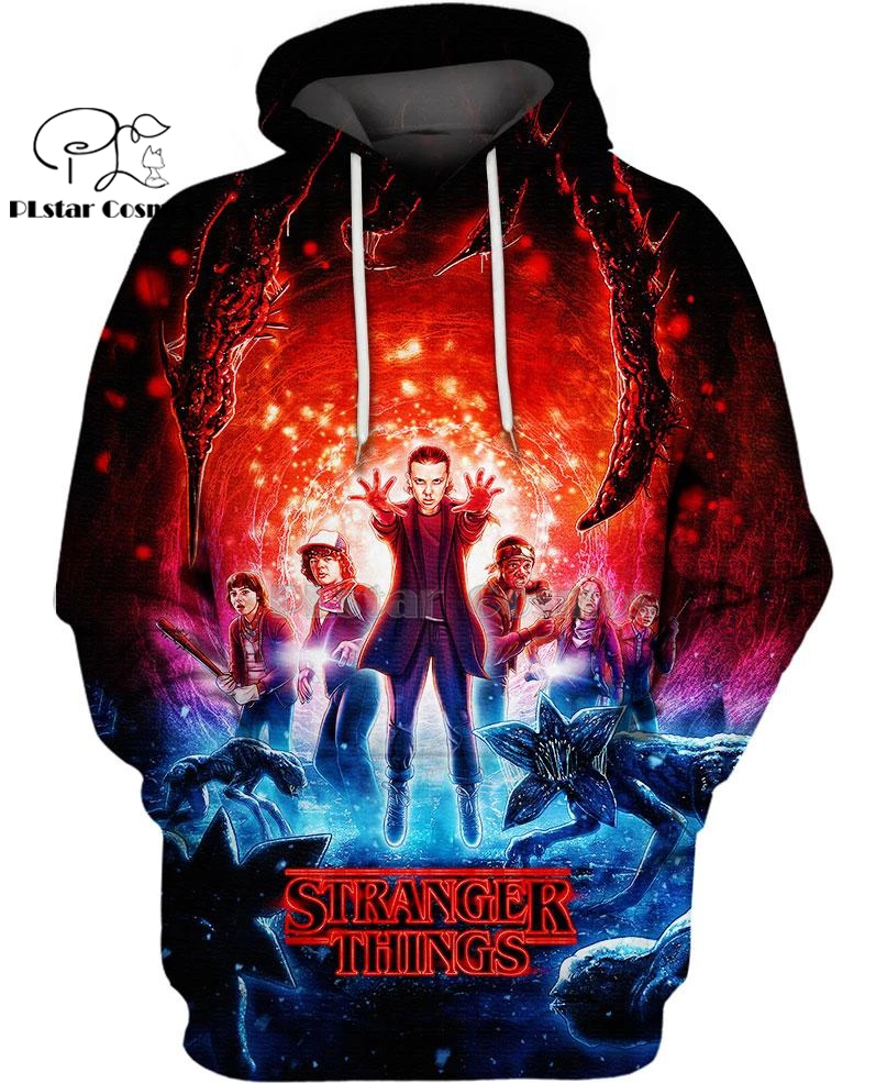 PLstar Cosmos Stranger Things Halloween Horror 3d Hoodies/Sweatshirt Winter Autumn Funny Long Selvee Harajuku Streetwear