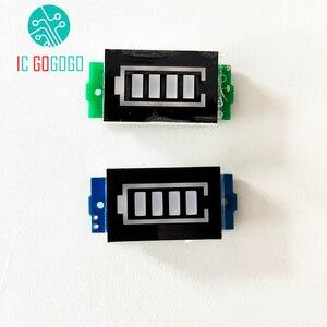 Image 5 - 3S 3 celular Indicador de capacidad de batería de litio para 12,6 V pantalla azul eléctrico vehículo eBike batería medidor de corriente Li po Li ion