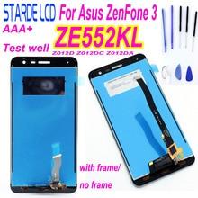 Original 100% New 5.5 inch For Asus ZenFone 3 ZE552KL Z012DA Z012D Z012DC Full LCD DIsplay + Touch Screen Digitizer Assembly
