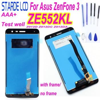 Original 100% New 5.5 inch For Asus ZenFone 3 ZE552KL Z012DA Z012D Z012DC Full LCD DIsplay + Touch Screen Digitizer Assembly free shipping original new original auo a101vw01 v 3 v 1 new original 10 1 inch lcd screen