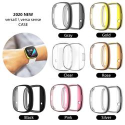 Protective Cover For Fitbit Versa 3 Sense Watch Screen Protector For Fitbit Smart Watch Electroplating Protective Shell TXTB1