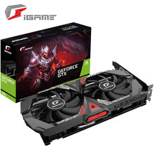 Coloré sept iGame GeForce GTX 1650 Ultra OC 4 gd6 GPU carte graphique jeu carte graphique à manger poulet conception de carte graphique
