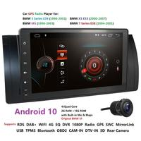 HIZPO 9 inch Android 10.0 1024x600 HD Touch Screen Car Multimedia Radio Stereo for BMW E39 E53 X5 Wifi Bluetooth DVR Cam IPS DSP