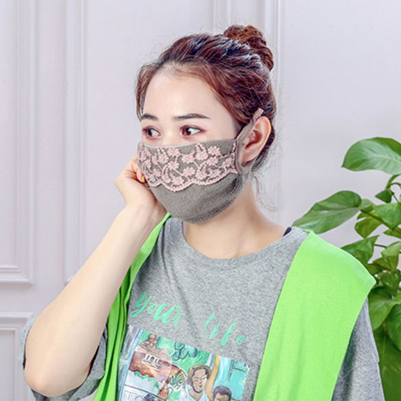 Women Student Winter Face Cover Warmer PM2.5 Cotton Mouth Mask Anti-Dust
