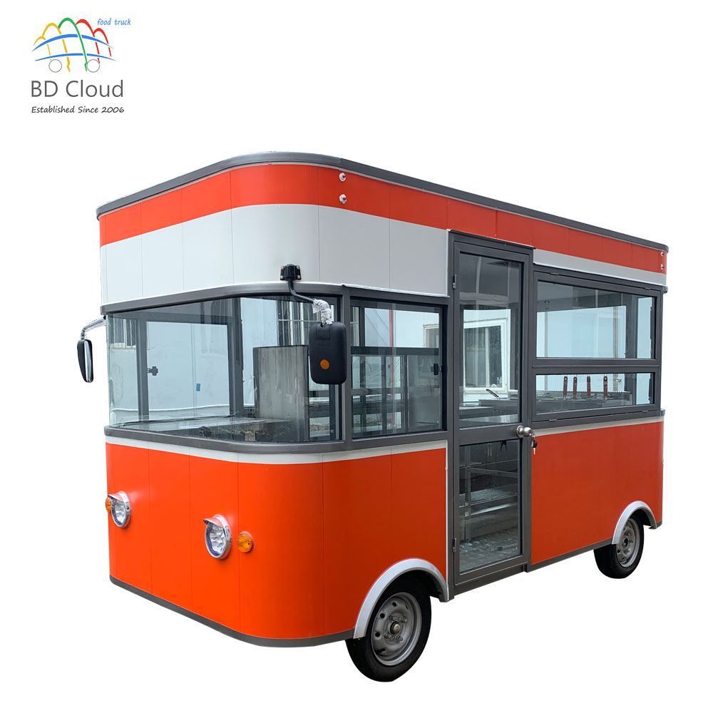 Factory Directly Supply Commercial Used Food Trailer / Fast Food Truck Malaysia For Sale