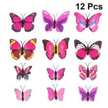 12 pçs simulação borboleta grampos de cabelo bonito grampos de cabelo lifelike bobby pinos acessórios para o cabelo das crianças meninas pálido rosado