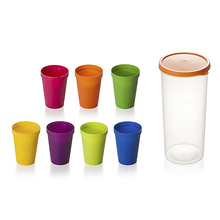 2020 креативные пластиковые чашки радужного цвета, туристическая чашка для пикника, чая, чашка для кофе и воды, домашняя портативная чайная ча...