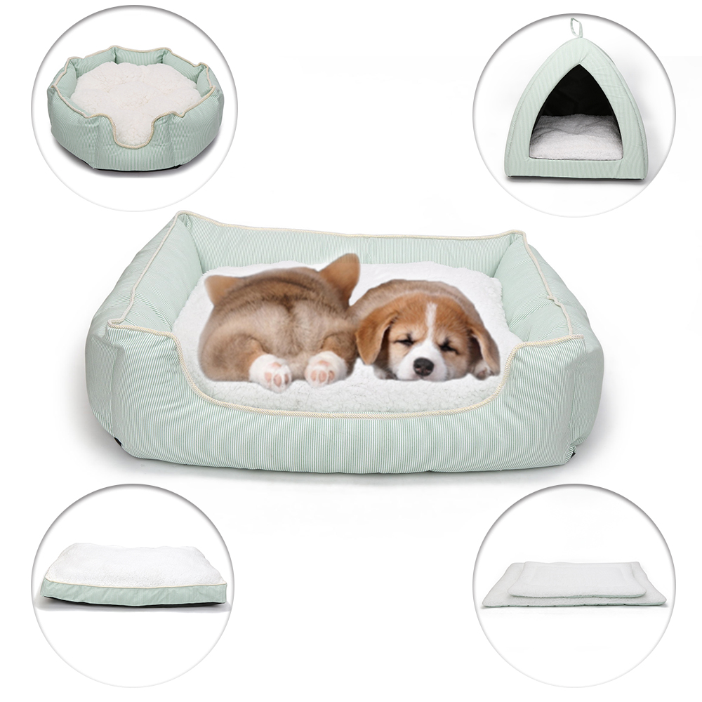 Styles Cotton Dog Bed Mats Sofa Pet Beds for Large Small Dogs House for Cat Kitten Puppy Soft Bed Bench Pets Product (1)