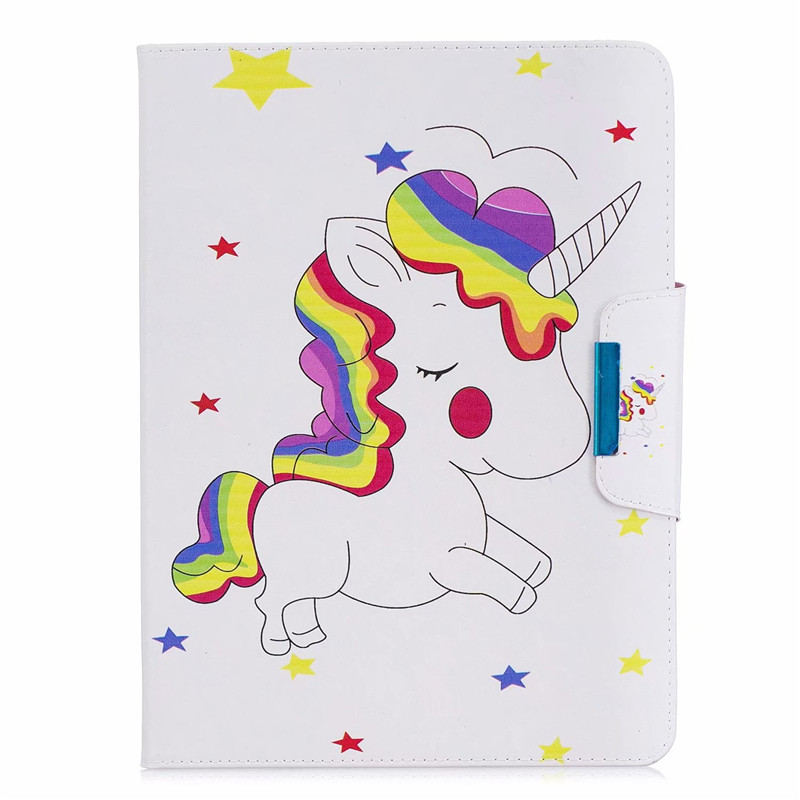 H Gray Wekays Cover For iPad 10 2 2019 Cartoon Unicorn Leather Case For iPad 10 2 7th