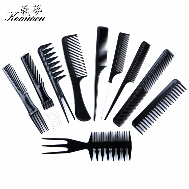 10 Pieces Hairdressing Comb Anti-static Massage Comb Straight Hair Tangle Teezer Environmentally Friendly Plastic Jian Fa Shu Wh