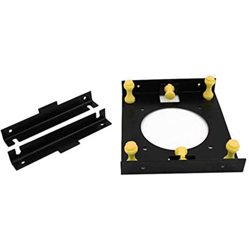 Hot <font><b>3.5</b></font> Inch Hard Disk Shock Absorber Bracket with Mounting Screws for PC Case <font><b>3.5</b></font> HDD <font><b>to</b></font> <font><b>5.25</b></font> DVD ROM Bay Adapter image