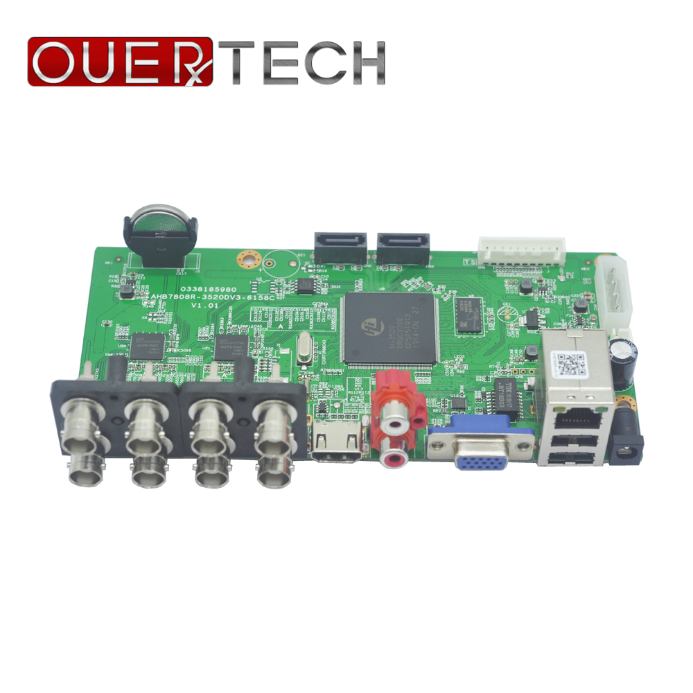 OUERTECH  AHD CVI TVI IP CVBS 5 In 1 8CH CCTV DVR Board Supoort 1080N/960P/5MP ONVIF Surveillance Video Recorde Main Board