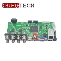 Ouertech ahd cvi tvi ip cvbs 5 em 1 8ch cctv dvr placa supoort 1080n/960 p/5mp onvif vigilância vídeo recorde placa principal