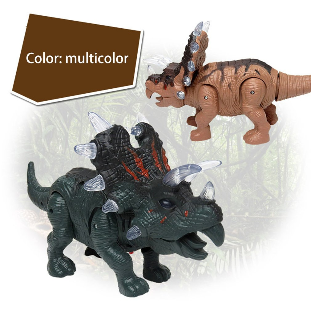 Clearsale Electronic Dinosaur Triceratops Toy Light+Sound+Walking Imitated Dinosaur Children Toy Birthday Gift Surprise Gift
