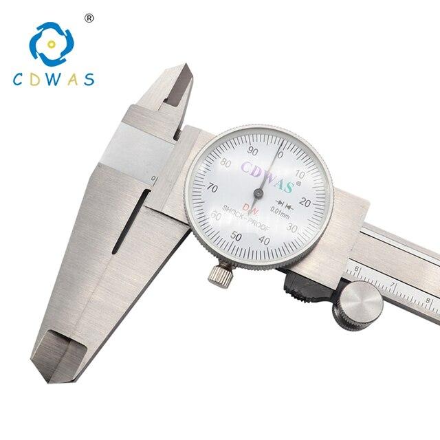 الطلب الفرجار 0 150 0 200 300 مللي متر 0.01 مللي متر صناعة عالية الدقة الفولاذ المقاوم للصدأ الورنية الفرجار للصدمات متري أداة قياس