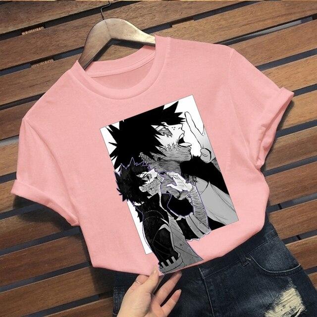 ANIME mon héros académique T-shirt hommes drôles hauts t-shirts graphiques Harajuku unisexe Anime Dabi T-shirt homme T-shirt
